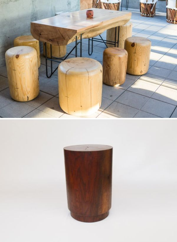 Alma Allen Organic Wood Stools As Seen In Los Angeles 2018 Designer Chairs Pinterest Stool And