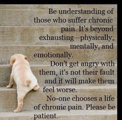 So true. I live with chronic back pain everyday and I would do anything to make it go away!