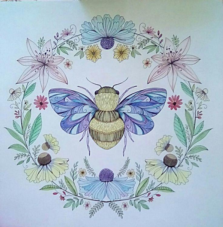 Joyful Blooms To Color Adult Coloring Bumblebee