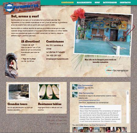 sitio web de olas permanentes, página de inicio. 2014. ®raquel marón estudio creativo www.olaspermanentes.com