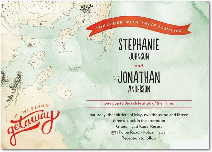 Grand Getaway   Signature White Textured Wedding Invitations In Red Lantern  Or Cobalt