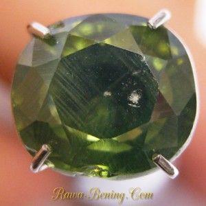 Batu Cushion Greyish Green Zircon 2.84 carat