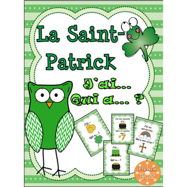 La Saint-Patrick - jeu j'ai... qui a...?