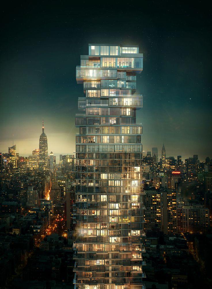 56 Leonard Street – Thrilling Bulky Design Shaping the New York Sky Silhouette