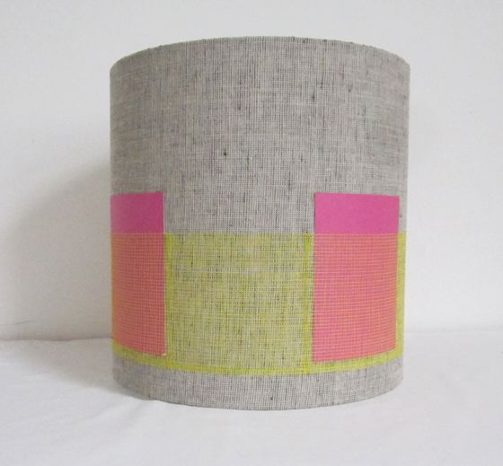 12 best bright handmade lampshades by pepperedmoth lighting images modern grey linen drum lampshade with bright yellow pocket stripe diameter aloadofball Gallery