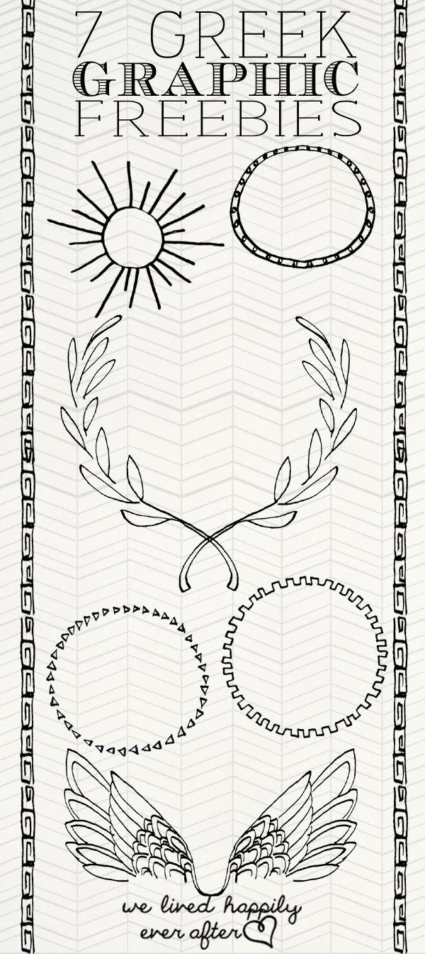 Greek Inspired Graphic Freebies