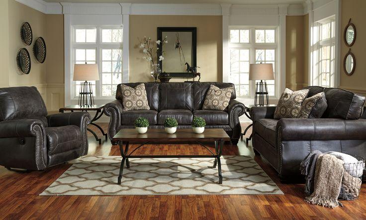 Breville Stationary Fabric Sofa by Benchcraft #fabricsofa #sofa #furnitureideas #livingroomfurniture #livingroom