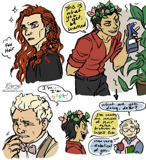 good omens ineffable husbands crowley aziraphale | Tumblr | Good