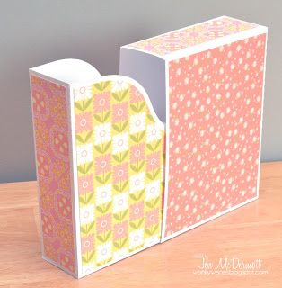 Lawnscaping Challenge: Card Storage [best idea ever... holds A2 cards! Gift box!!] Love this idea!!