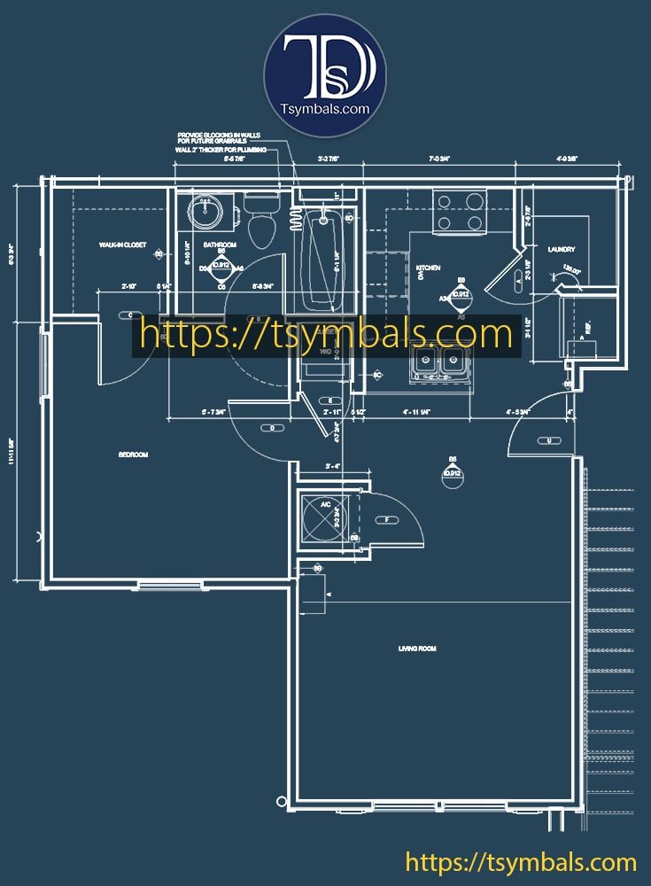 Modern One Bedroom 3d Floor Plans Tsymbals Design Bedroom Floor Plans Floor Plans Online Floor Plan Drawing