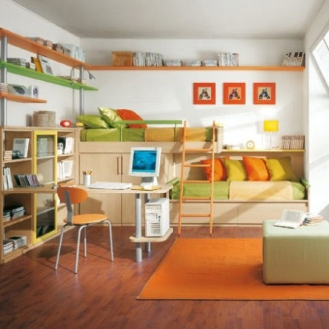 Staggered Bunk Beds Kid S Room Pinterest Beds And