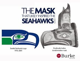 This mask may have inspired the Seattle Seahawks logo. #tbt #gohawks