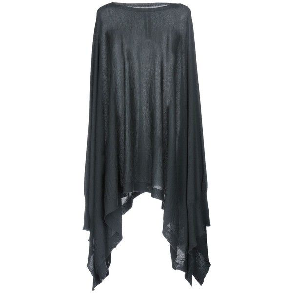 Rick Owens Capes & Ponchos ($1,100) ❤ liked on Polyvore featuring outerwear, deep jade, poncho cape, cape coat, cape poncho, poncho cape coat and rick owens