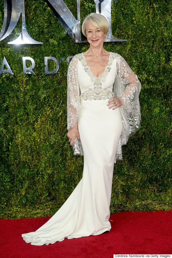 Helen Mirren was a vision as she walked the red carpet at the 2015 Tony Awards in New York on Sunday.