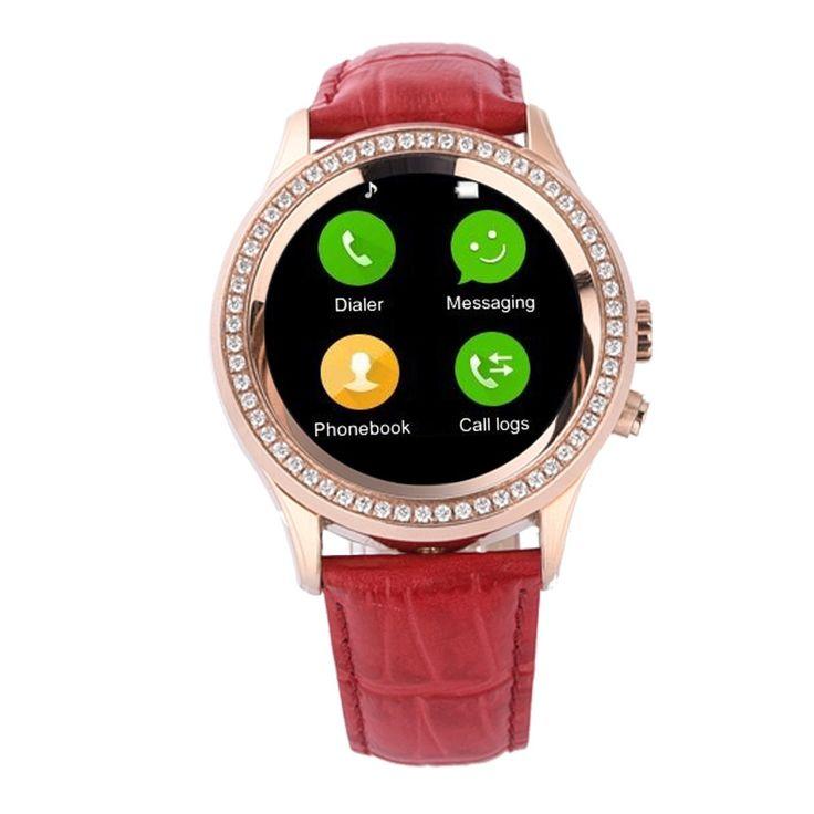 Hot! 2016 NEUE Frauen Diamant Smart Uhr D2 Bluetooth Wasserdichte für iPhone & Android Smartwatch mit Kamera pulsmesser //Price: $US $65.22 & FREE Shipping //     #smartuhren