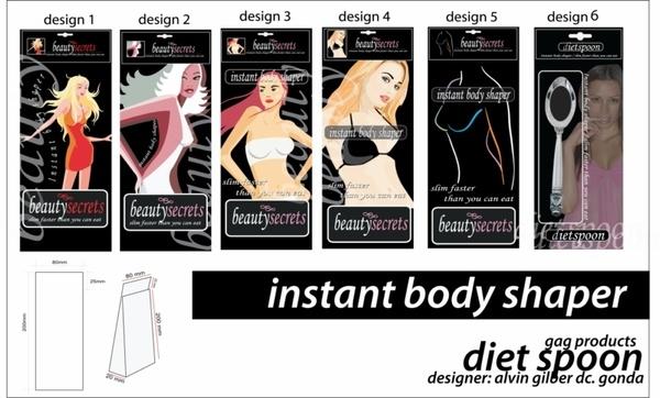 Designer : Alvin Gilbert Dc. Gonda abugonda@yahoo.com  Diet Spoon Packaging.