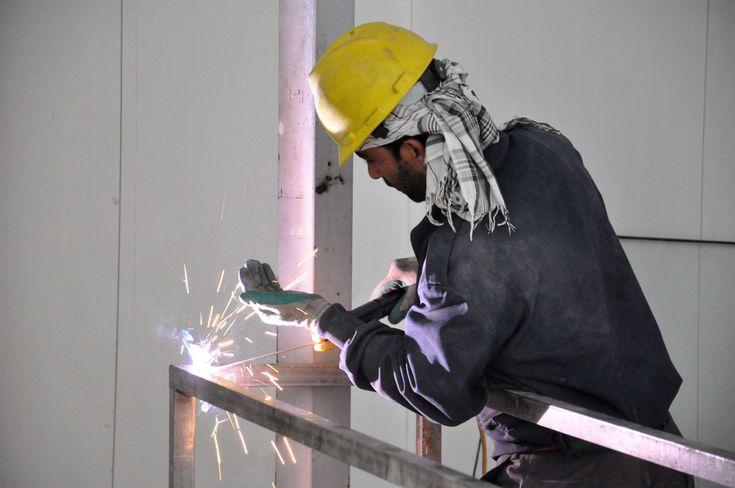 #construction #hot #industry #light #metal #metalworking #protection #radio #steel #weld #welder #work #workers