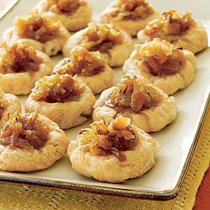 Sweet Vidalia onions are the feature ingredient in these savory appetizer tarts. Caramelizing the onions makes them even more tender and...