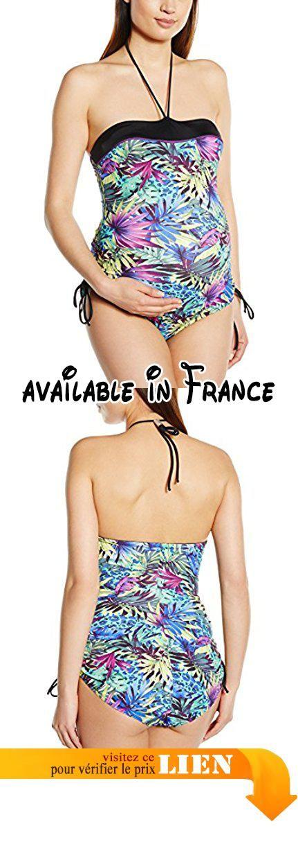 B00K96WQ1G : Cache Coeur - Jungle - maternité Maillot de bain Femme Multicolore (Multicoloured) Size 14 (Taille fabricant:Large). Maillot de bain de grossesse une pièce. très tendance. motifs tropicaux pailletés. Anti UV #Apparel #SWIMWEAR