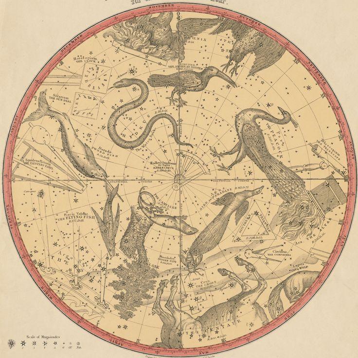 Atlas of the Heavens, Elijah Burritt 1856
