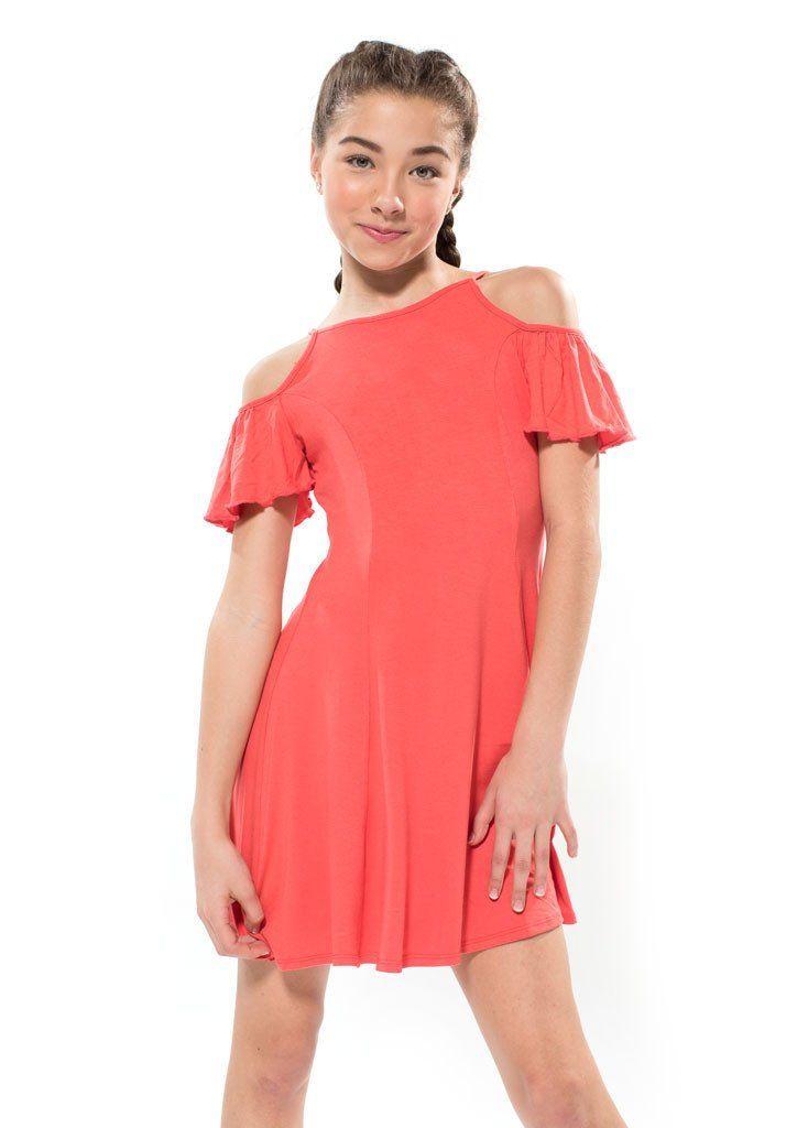 Abigail Orange - Tween Girl Dresses - Miss Behave Girls