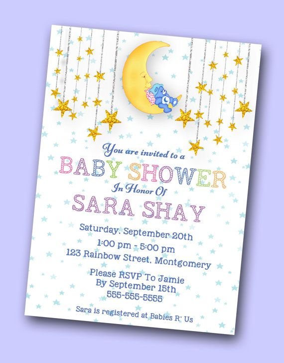 Baby Shower Themes Care Bears ~ Care bear baby shower invitation bears