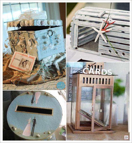 decoration mariage mer urne coffre lanterne