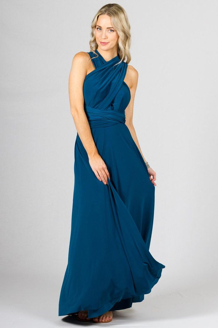 33 best possible bridesmaids dresses images on pinterest multi way wrap maxi teal get this versatile dress online ombrellifo Image collections