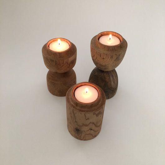木のティーライトキャンドルホルダー|Wooden Tealight Candle Holder