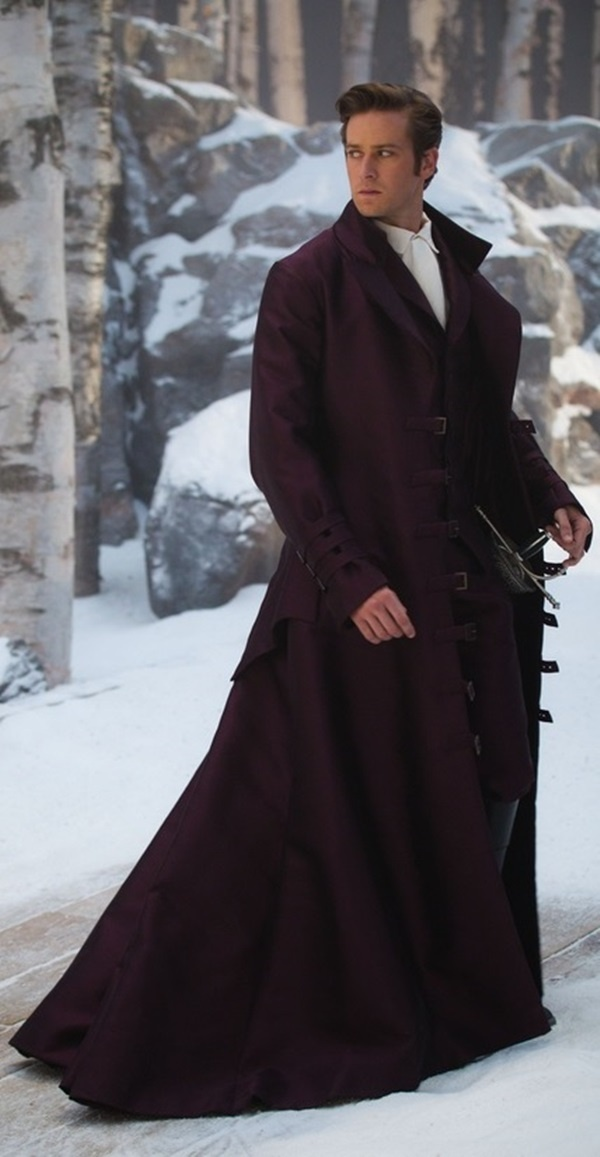 Armie Hammer as the prince from 'Mirror Mirror'. Love this coat/cape!!!!