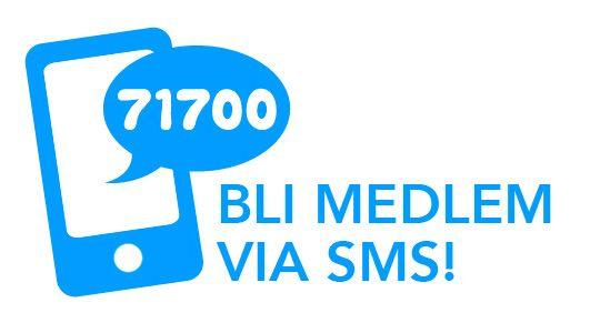 Bli medlem via sms