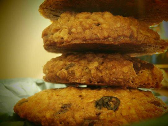 Μπισκότα με βρώμη, ταχίνι και μέλι