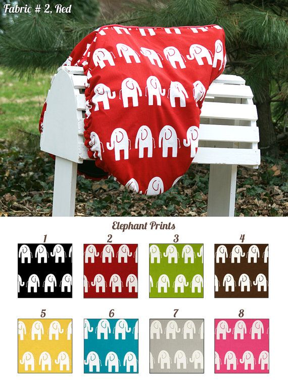 Elephants Saddle Cover Many Colors by PaddedPonies, $40.00