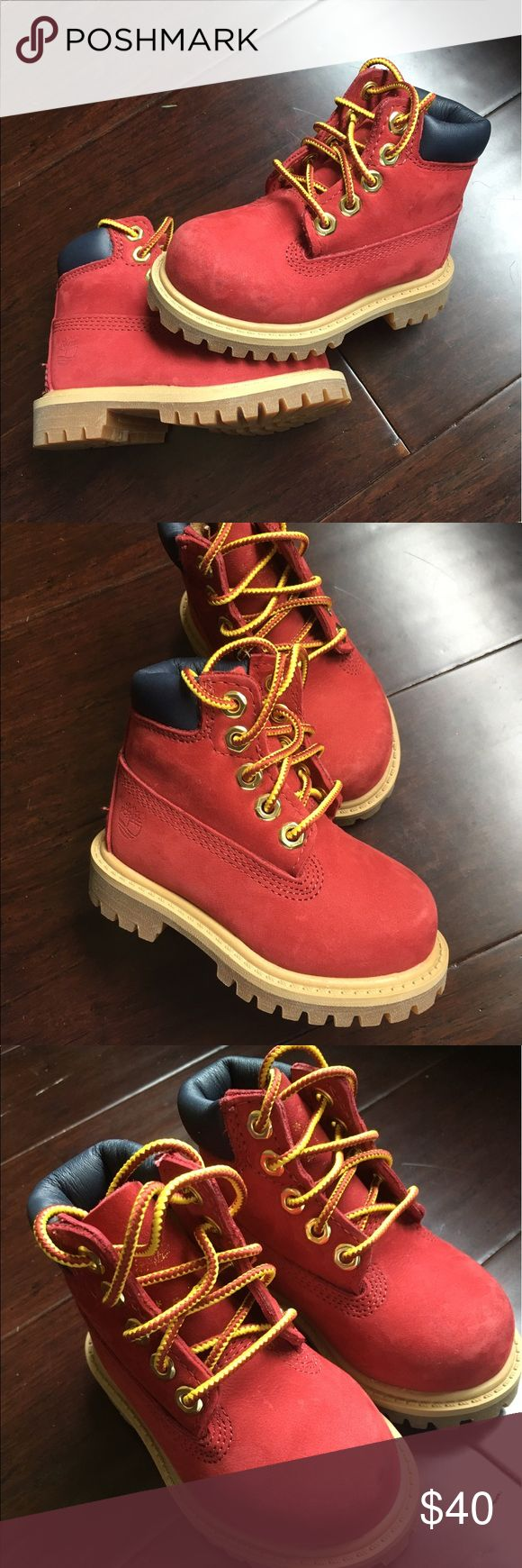"Timberland 6"" Classic Boot Toddler Timberland boot Patriotic Red in Great condition Timberland Shoes Boots"