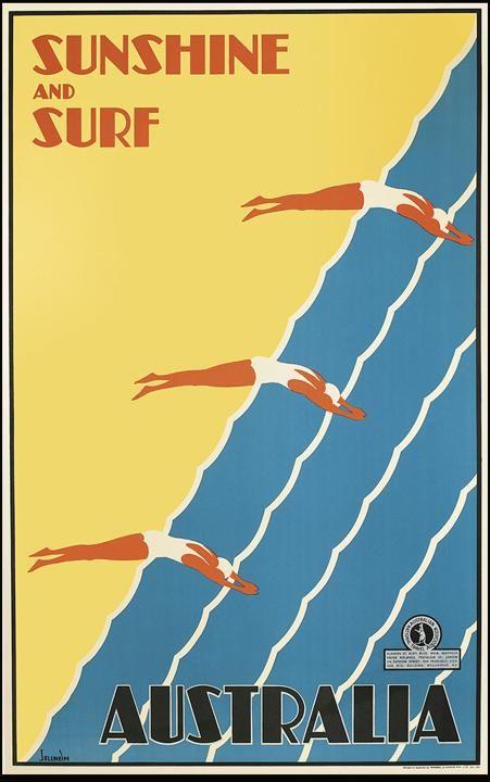 Travel art deco posters