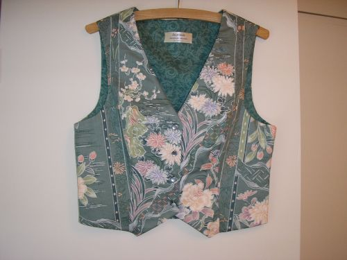 Japanese Flowers Ladies Waistcoat 10-12