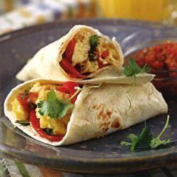 Burrito's met ei en paprika @ allrecipes.nl