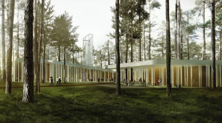 "Arvo Pärt Centre by NietoSobejano Arquitectos. ""Not a single pine will be torn down"". NietoSobejano Arquitectos designed a new home for the Arvo Pärt Centre near Talinn. Inspired by the Estonian composer's symphonies, the new cultural hub will dialogues respectfully with the surrounding landscape.  http://www.archipanic.com/architectural-symphony/"