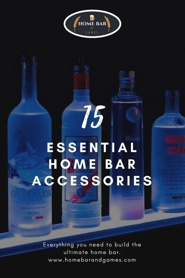 15 Home Bar Essentials Ideas Man Cave Diy Homebarand