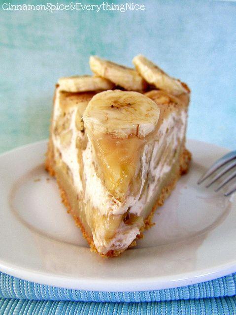 Banoffee Pie - Banoffee Pie is a seductive British pie creation that combines sweet, sliced bananas with fresh whip cream and toffee sauce in a cookie crust. Sticky, sweet and sinfully delicious.