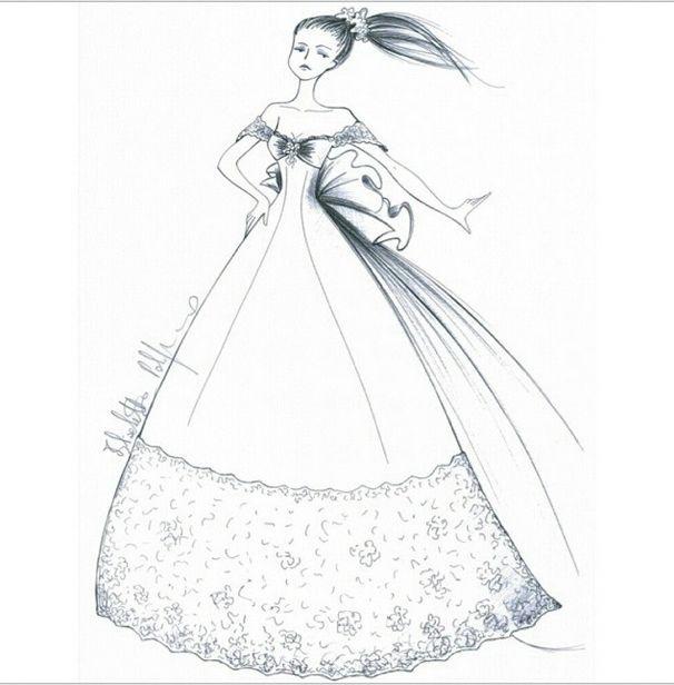 #sketch #wedding #weddingdress per la collezione 2015 di Elisabetta Polignano