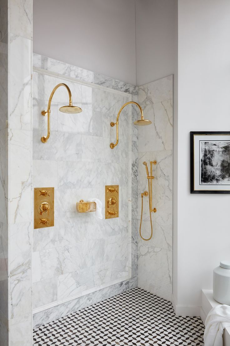 A Favorite Double Shower Featuring Our Henry Fittings Double