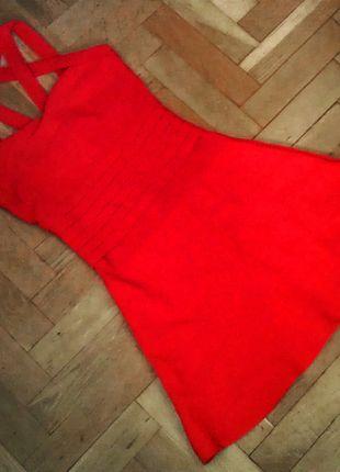 Kup mój przedmiot na #vintedpl http://www.vinted.pl/damska-odziez/krotkie-sukienki/13411027-3-za-2-czerwona-sukienka-bandage-xss-rozkloszowana-paski-w-dekolcie