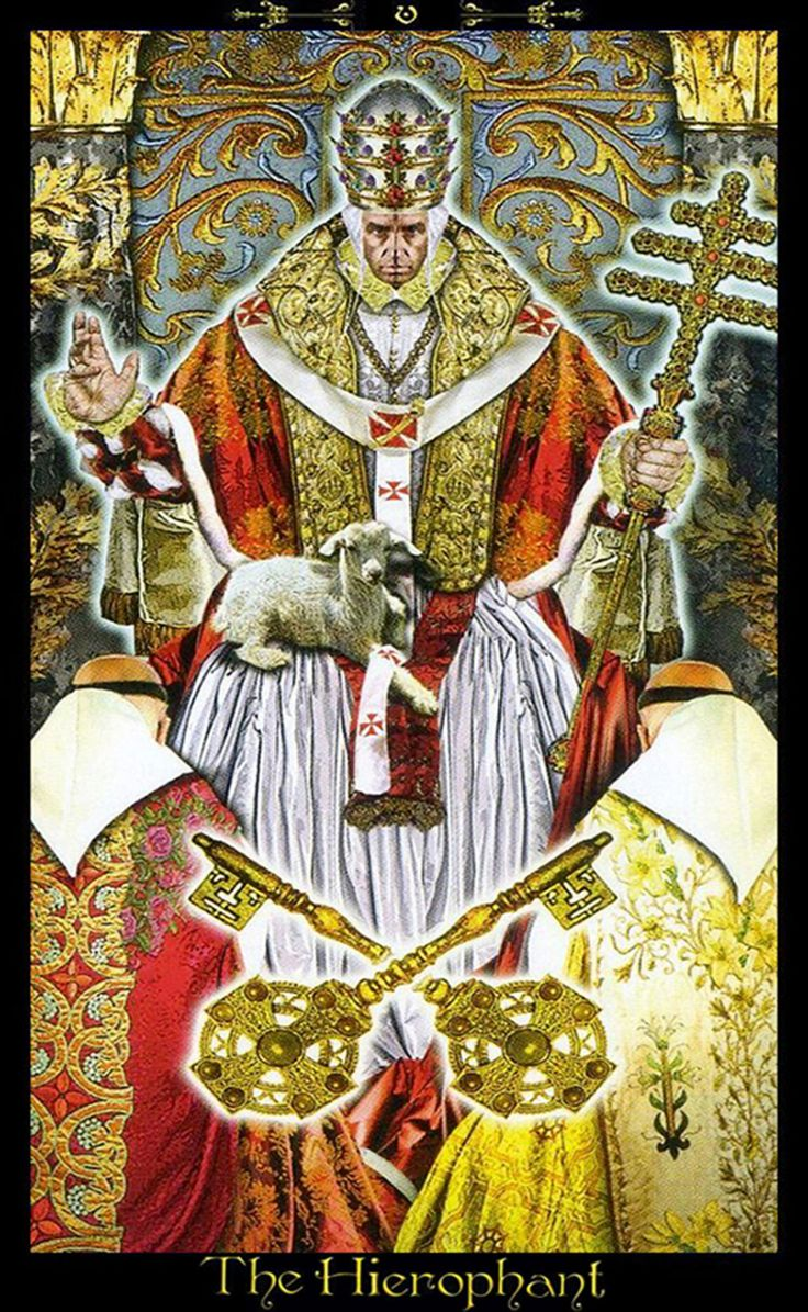Major Arcana: V - Le Pape - Tarot Illuminati Par Erik Dunne