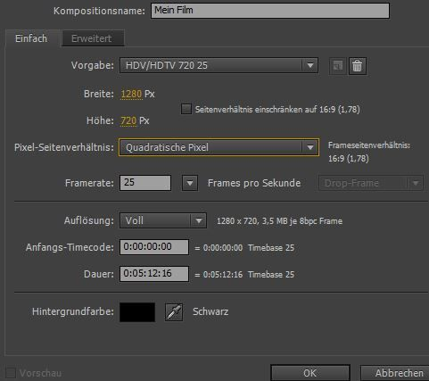 After Effects Film schneiden (Basics)