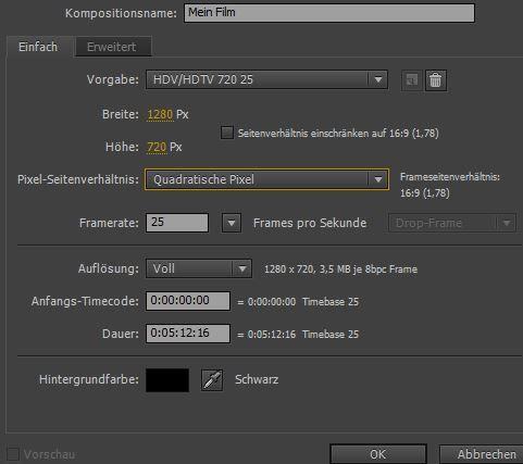 After Effects Film schneiden (Basics)