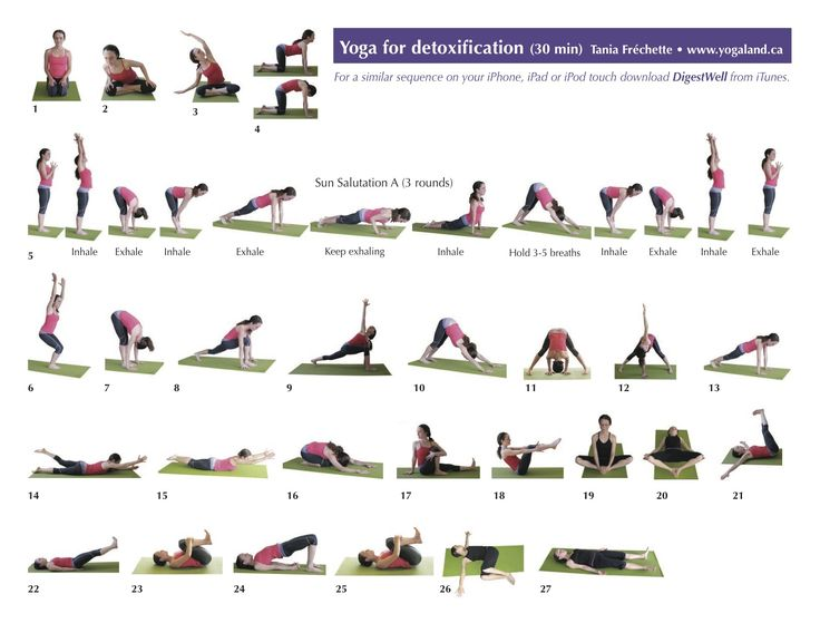 "DetoxYoga.  Includes a link to a PDF called ""Yoga for Digestion"""