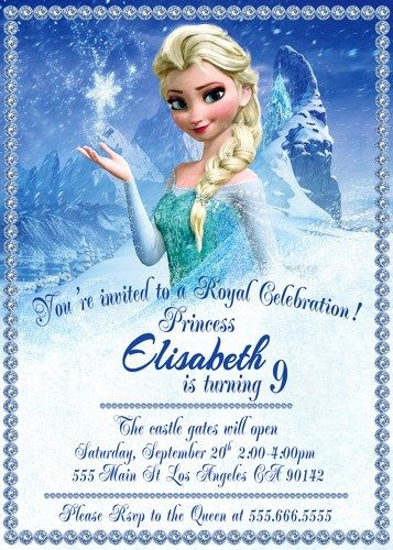 Frozen Invitation, Disney invitation, Frozen Birthday Party
