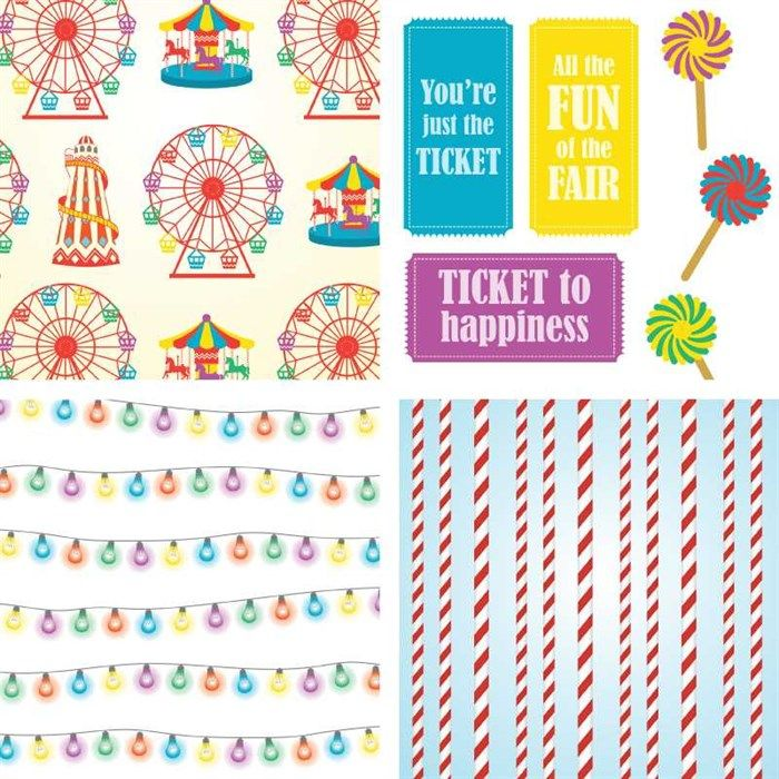 Download and print this FREE collection of fairground-themed graphics.