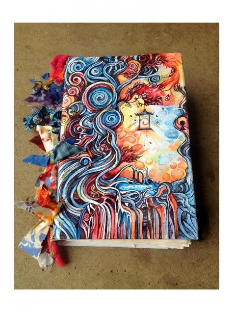 Art Journaling - this is beyond gorgeous! I would love to do this ....